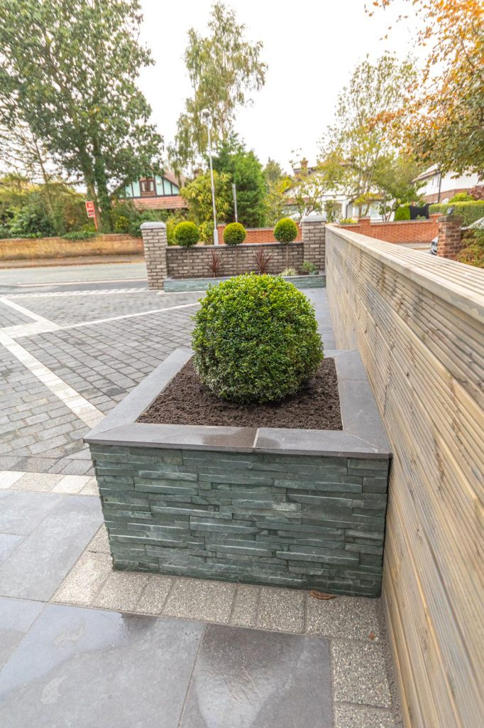 cladded brick planters Liverpool.