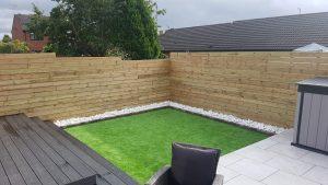 Small Garden Design - Porcelain Patio Tiles