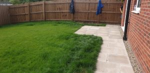 Landscaping with levels - before and after